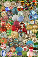 '15 Christmas Ornaments Garden Art Totem