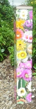 Garden Art Peace Pole - Cactus Flowers