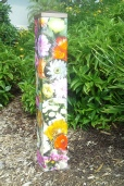 Cactus Flower Garden Art Peace Pole