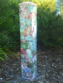 Echeveria Garden Art Peace Pole