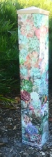 Garden Art Peace Pole - Echeveria