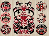 Haida Bear Motif - Garden Art Pole
